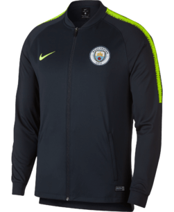 Nike Manchester City Dry Squad Trainingsjack 2018-2019 Dark Obsidian