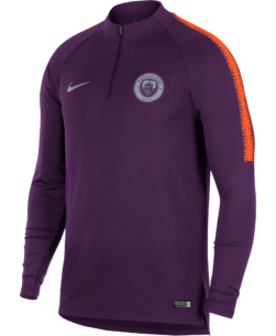 Nike Manchester City Dry Squad Drill Trainingstrui 2018-2019 Night Purple