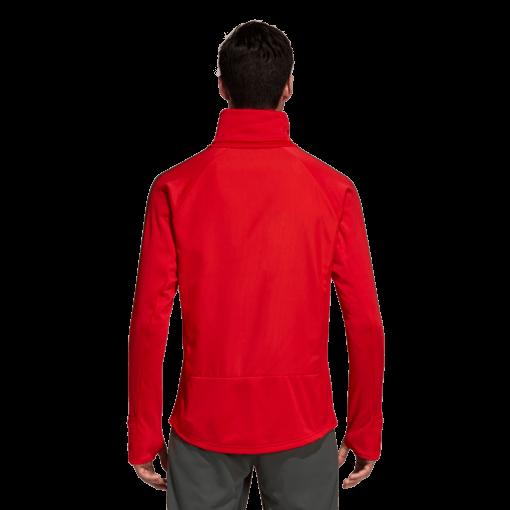 adidas Bayern München Trainingstrui 2018-2019 Red Ivy achterkant