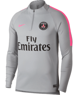 Nike Paris Saint-Germain Dry Squad Drill Trainingstrui 2018-2019 Wolf Grey