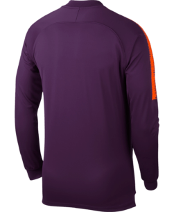 Nike Manchester City Dry Squad Trainingsjack 2018-2019 Night Purple achterkant