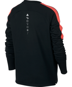 Nike CR7 Dry Academy Sweater Kids Black Hot Punch achterkant