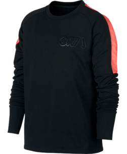 Nike CR7 Dry Academy Sweater Kids Black Hot Punch