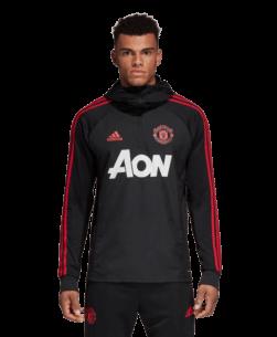 Deze isolerende adidas Manchester United Warm Top 2018-2019 vol Manchester United-details houdt je warm en klaar voor actie. De buitenkant van fleece en de op warmte reagerende voering helpen je lichaamstemperatuur op peil te houden, en ripstop vormt een barrière tegen de wind. Met een strak, gestroomlijnd model voor natuurlijk bewegen op het veld. Blijf warm en droog Climawarm houdt je warm en droog in de kou
