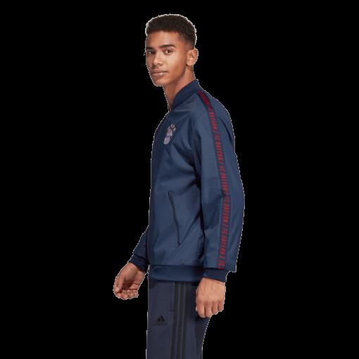 adidas Bayern München Anthem Jacket 2018-2019 Collegiate Navy zijkant