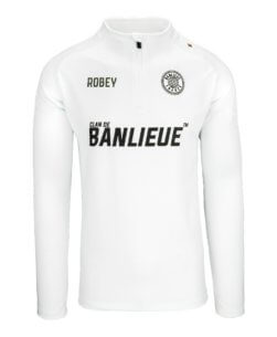 Robey x Clan de Banlieue Half-Zip Top White