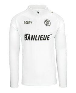 Robey x Clan de Banlieue Half-Zip Top White