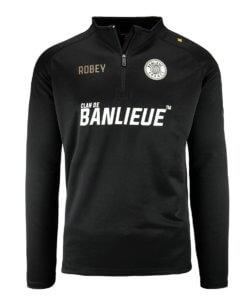 Robey x Clan de Banlieue Half-Zip Top Black