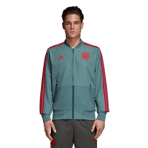 adidas Bayern München Presentatie Trainingsjack 2018-2019 Raw Green Red