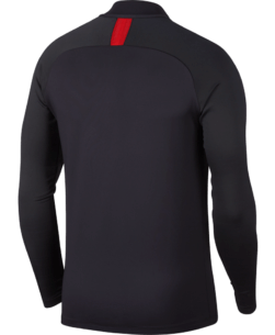 Nike Paris Saint-Germain Strike Trainingstrui 2019-2020 Oil Grey University Red achterkant