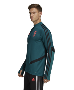 adidas Juventus Trainingstrui 2019-2020 Mystery Green zijkant