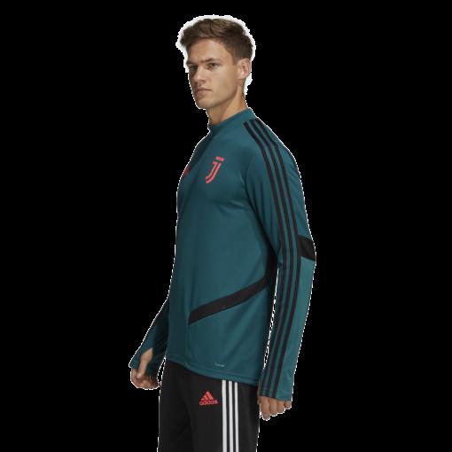 adidas Juventus Trainingstrui 2019-2020 Mystery Green zijkant