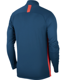 Nike Dri-Fit Academy Trainingstrui Valerian Blue Crimson achterkant