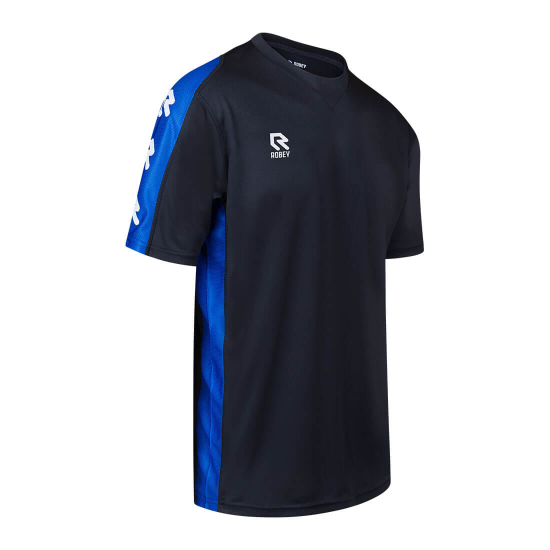 Robey Performance Shirt - Black Royal Blue